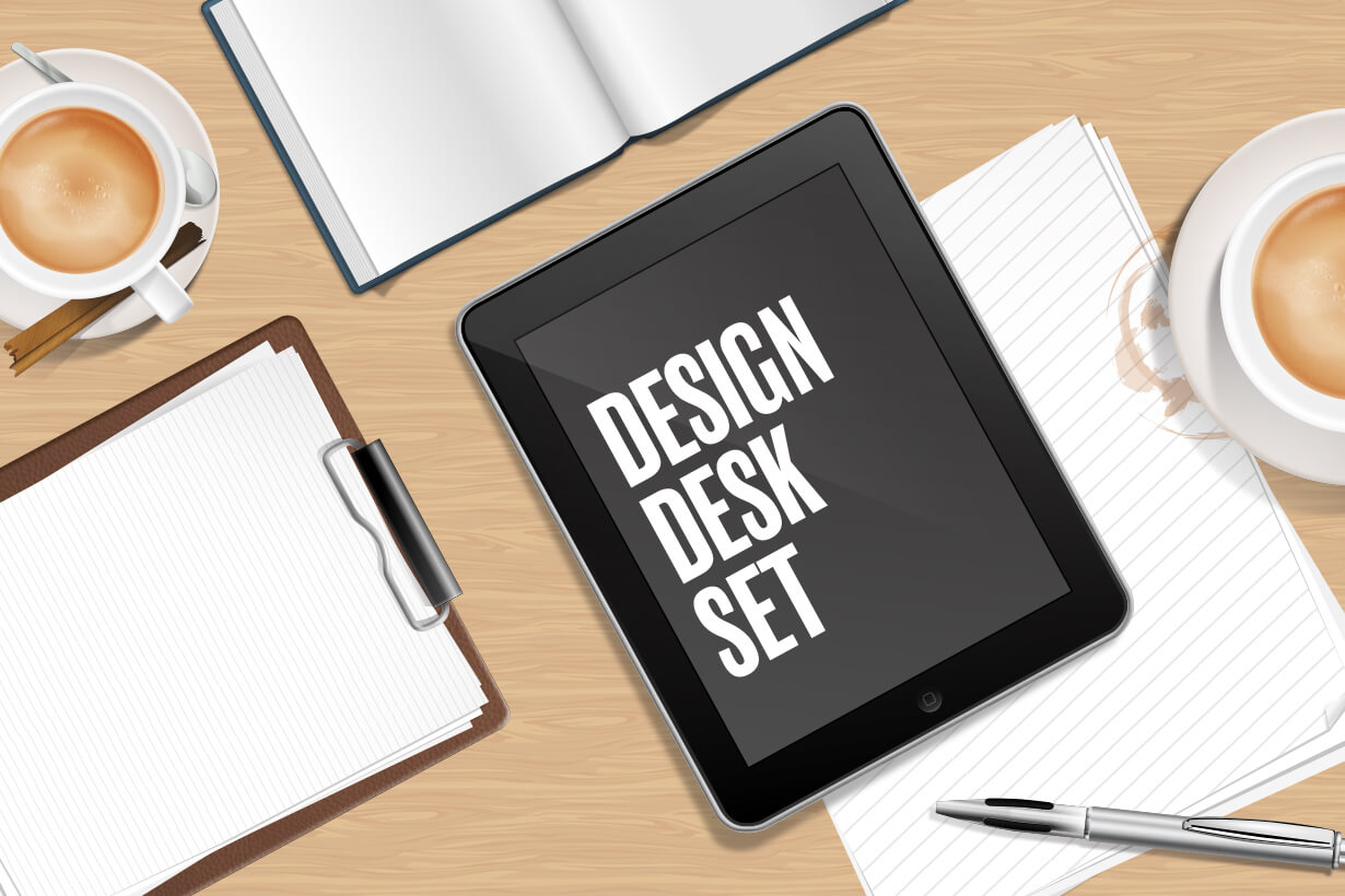Design Desk Set: Top View