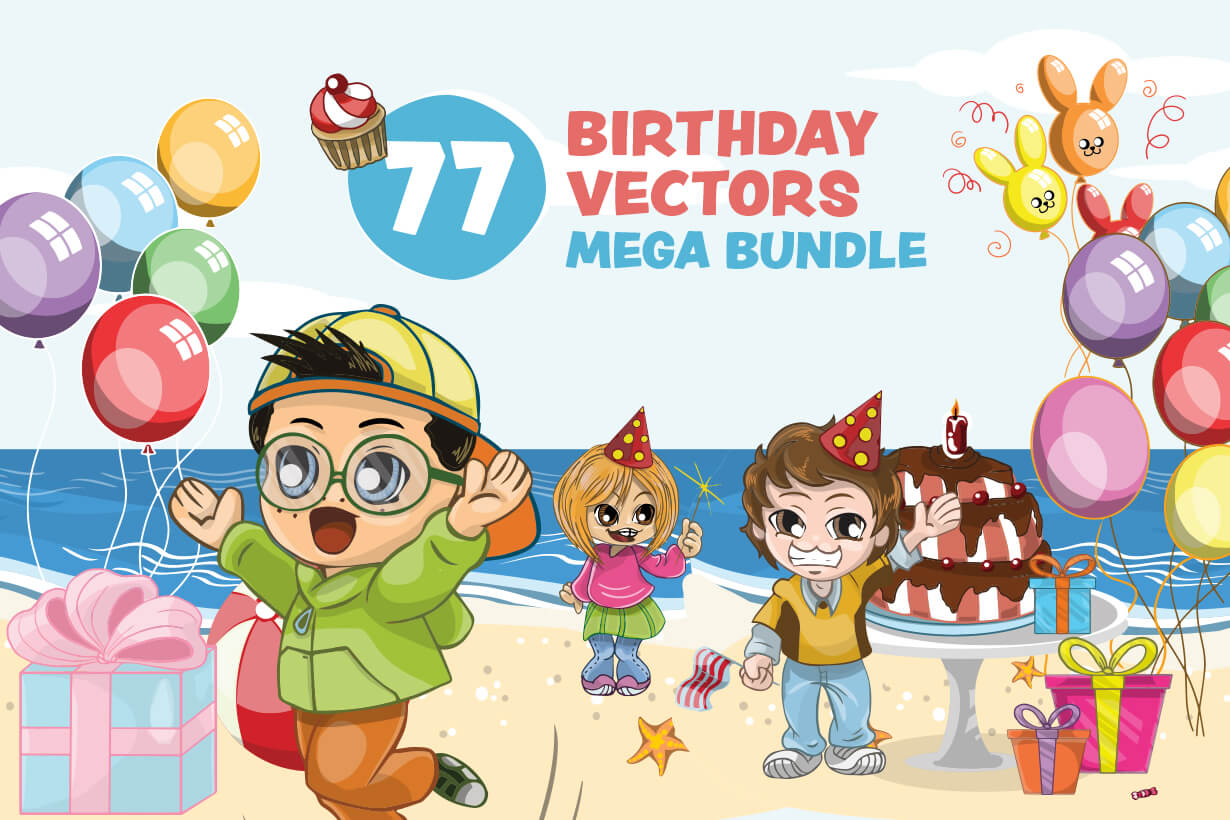 Birthday Vectors - Mega Bundle