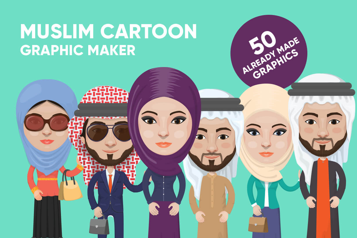 Muslim Vector Cartoon Graphics Maker