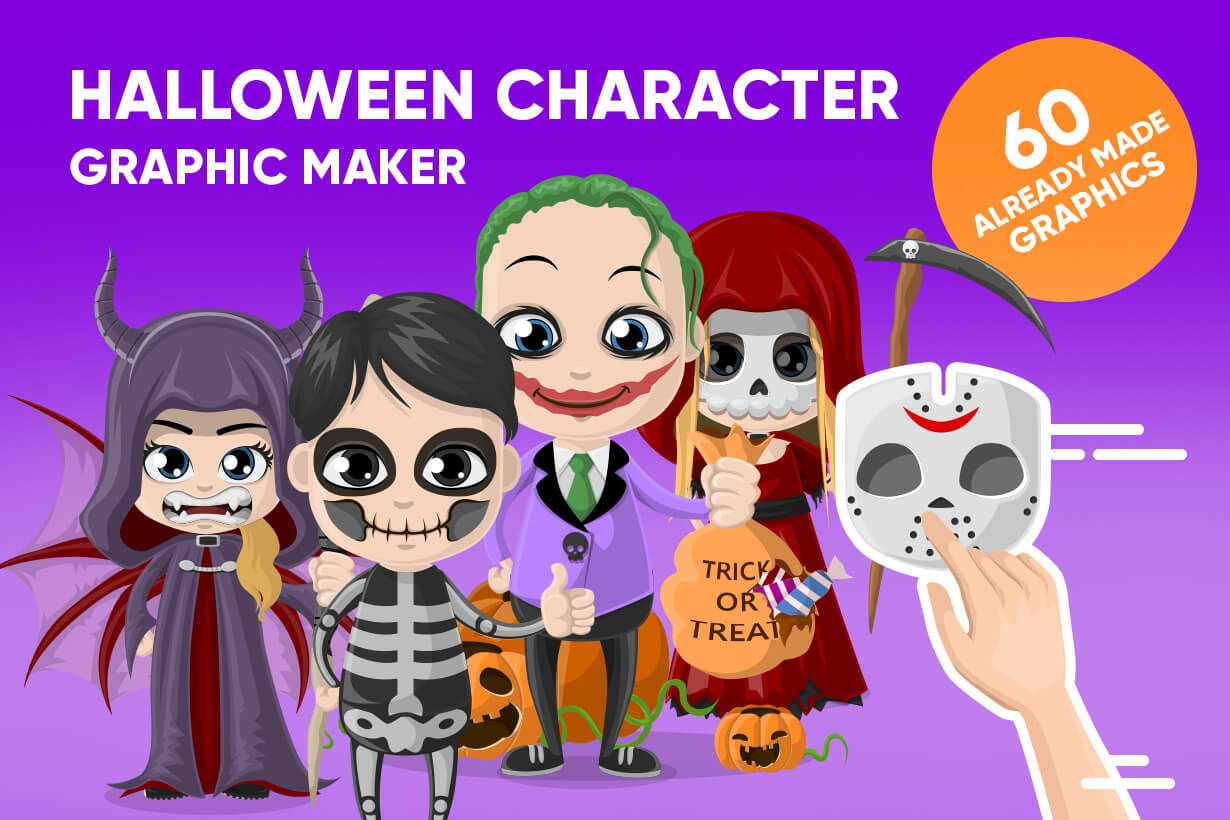 Halloween Characters Graphic Maker
