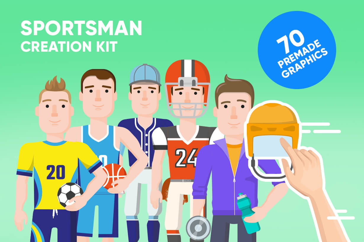 Sportsman Vector Graphics Maker