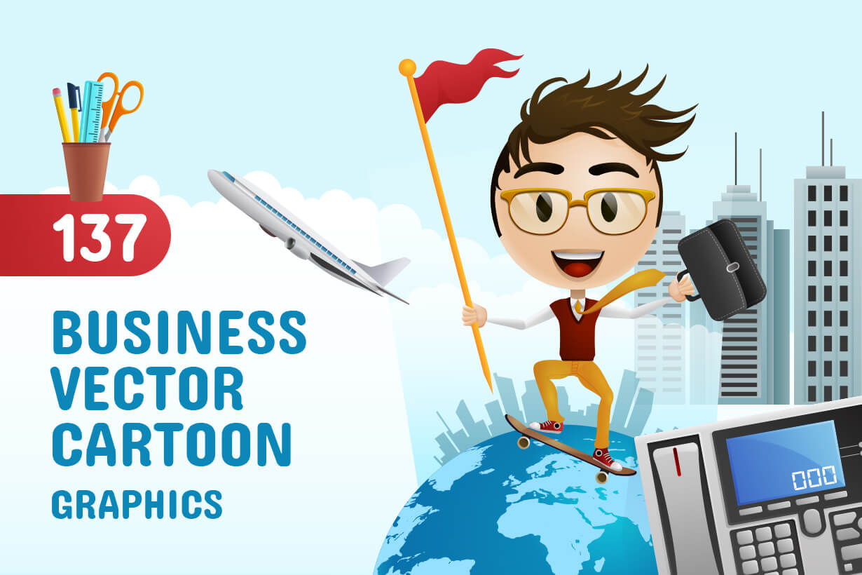 Business Vector Cartoon Graphics