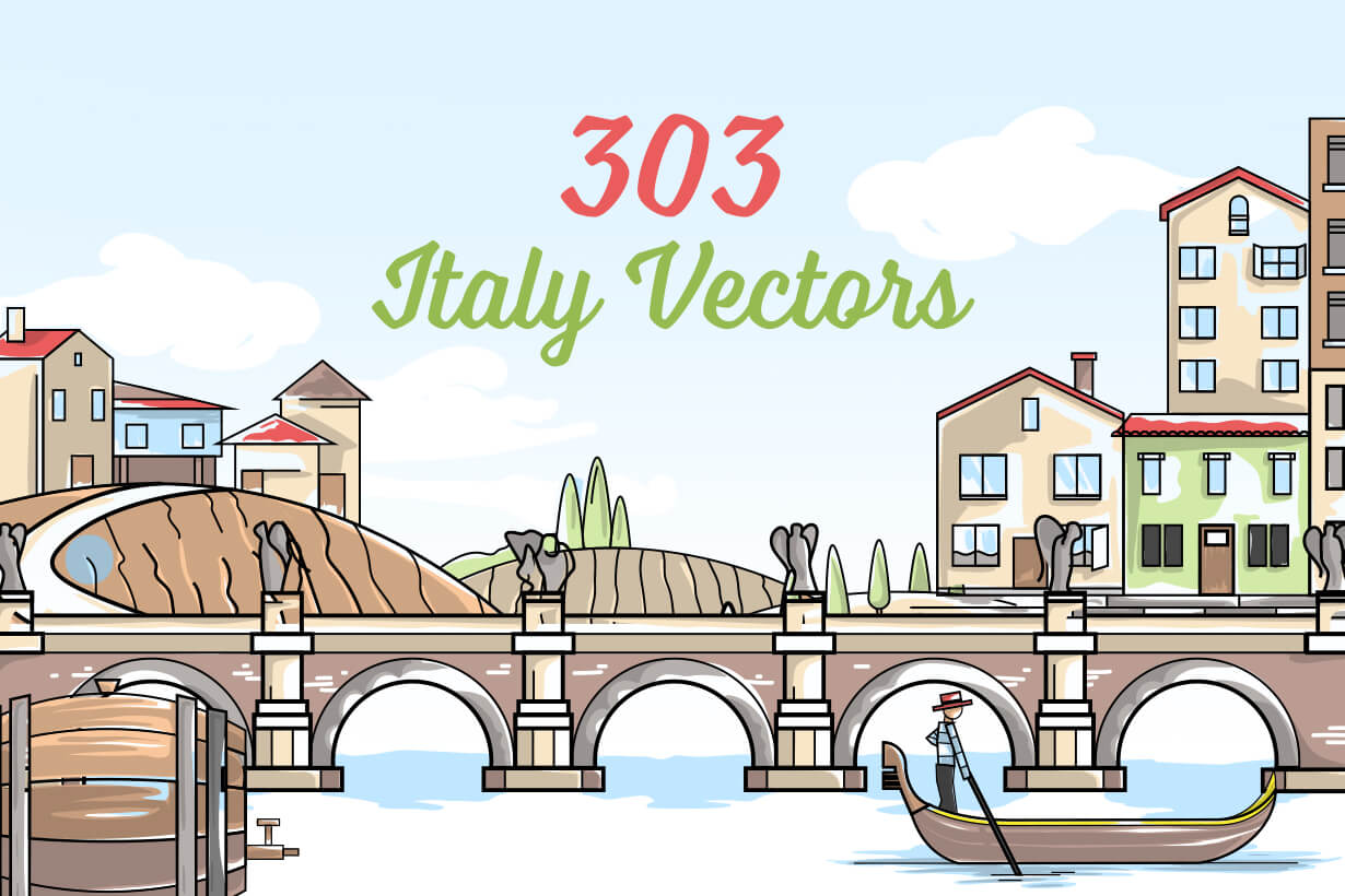 Italy Vector Graphics - Mega Bundle