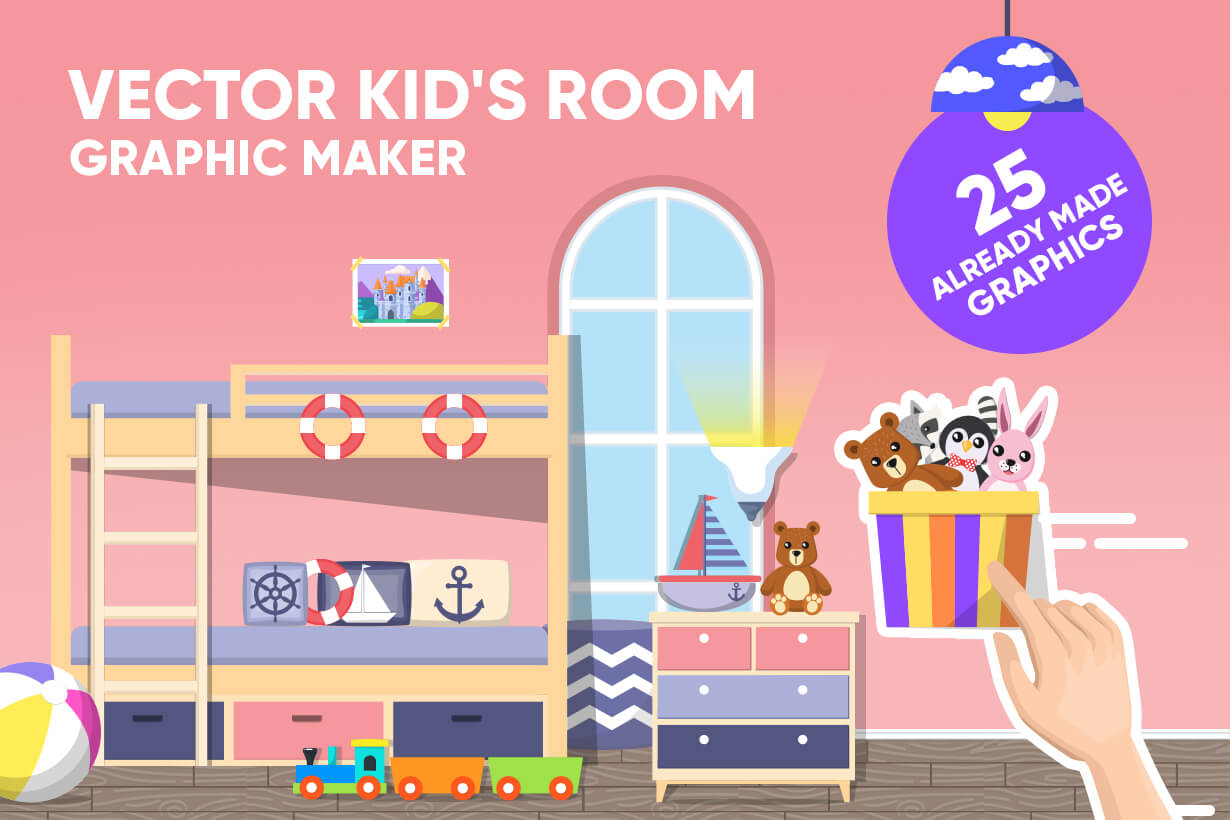 Kid's Room Vector Graphics Maker