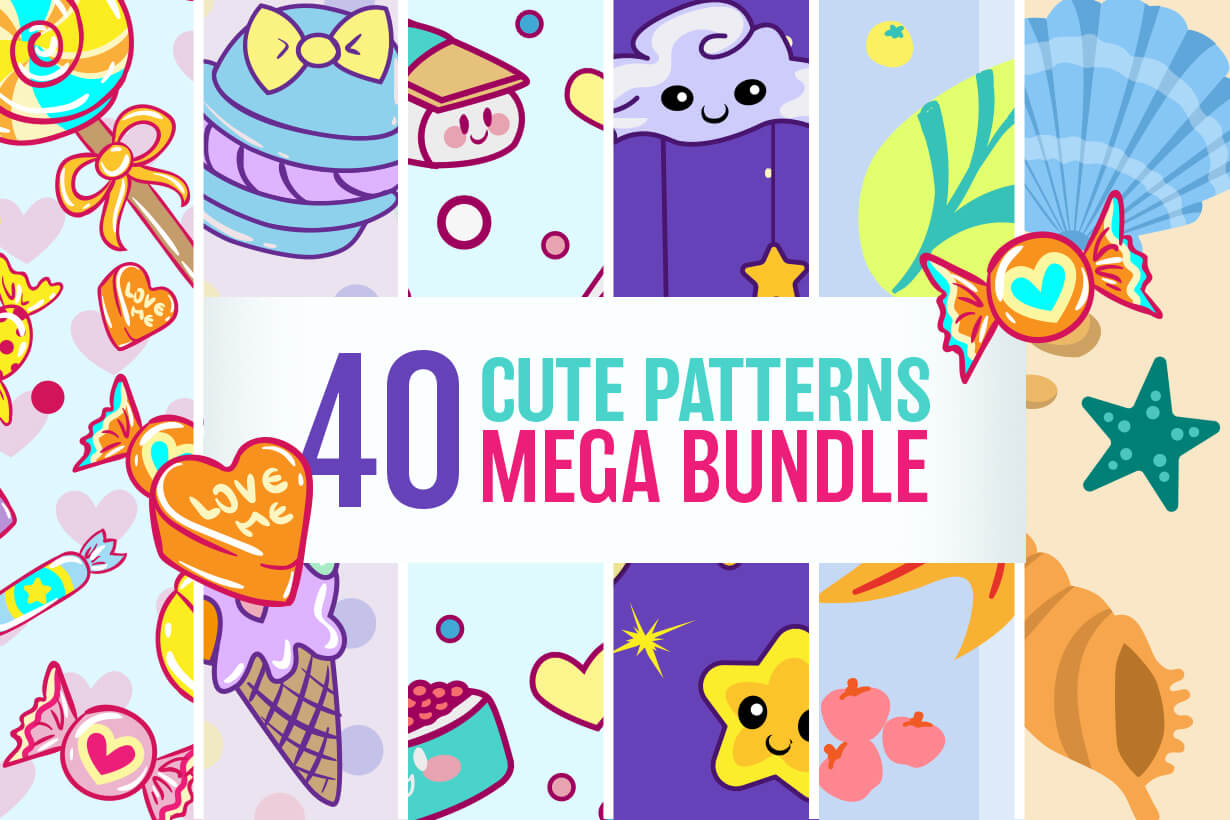Cute Patterns - Mega Bundle