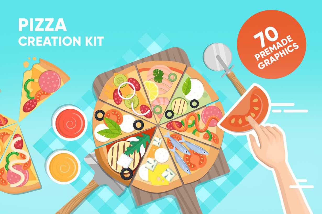 Vector Pizza Graphics Maker