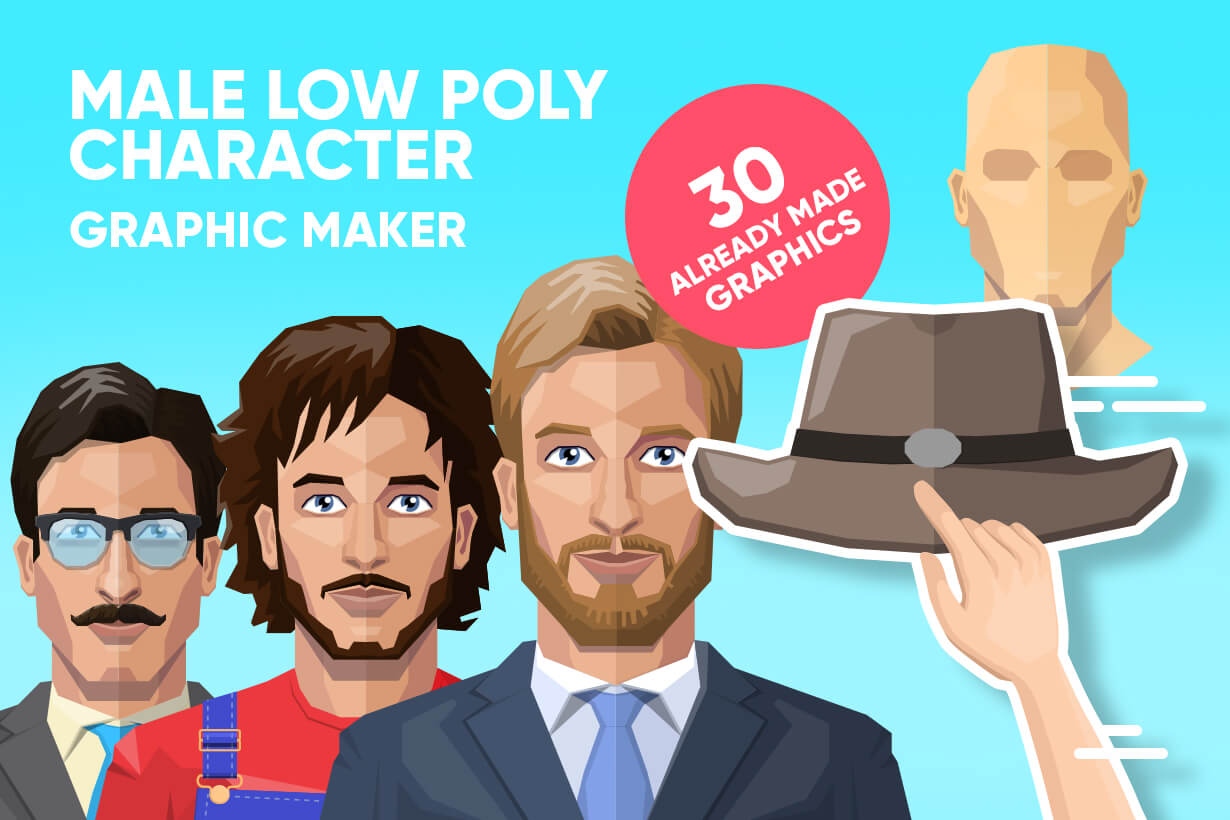 Male Low Poly Character Creator