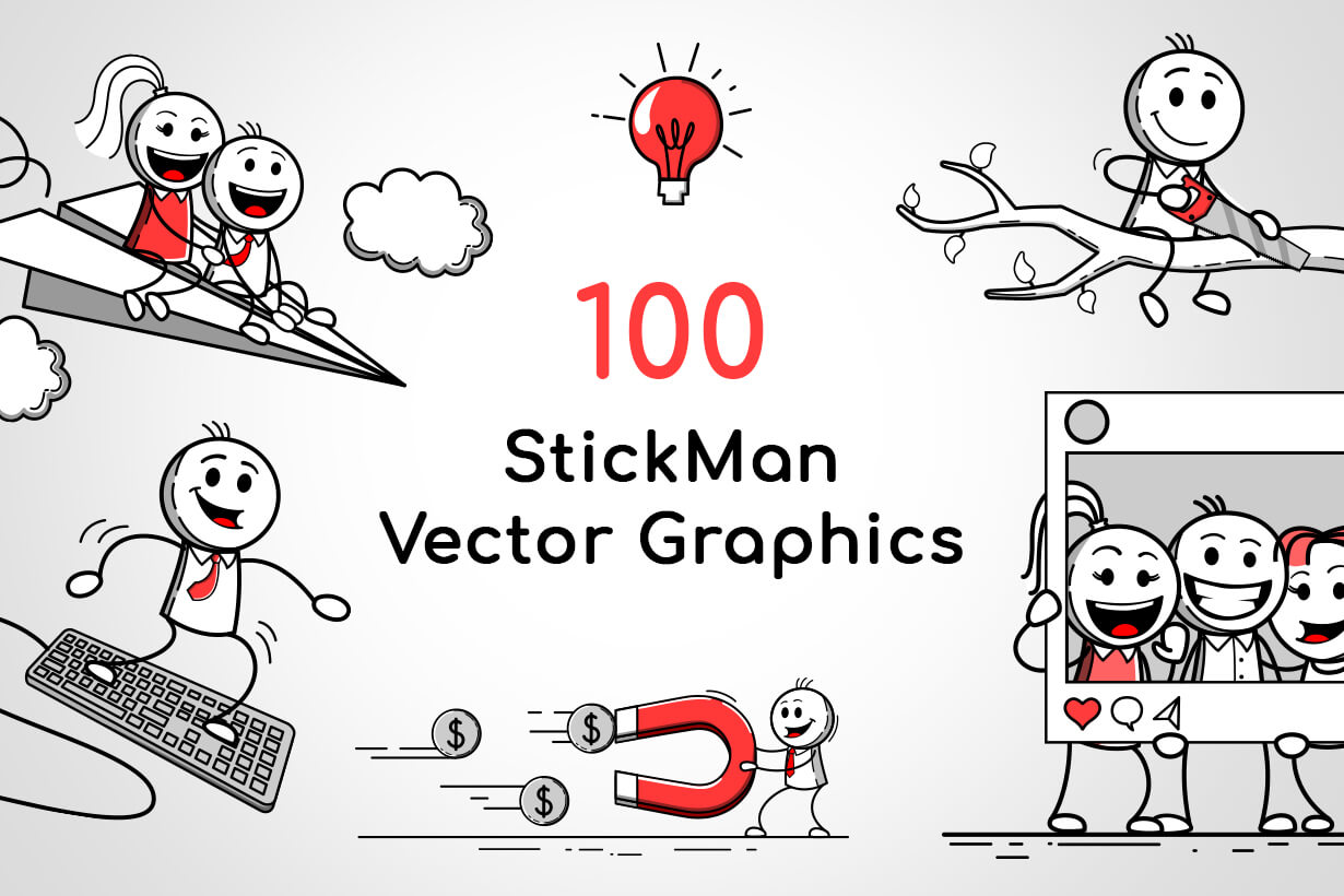Stickman Vector Graphics
