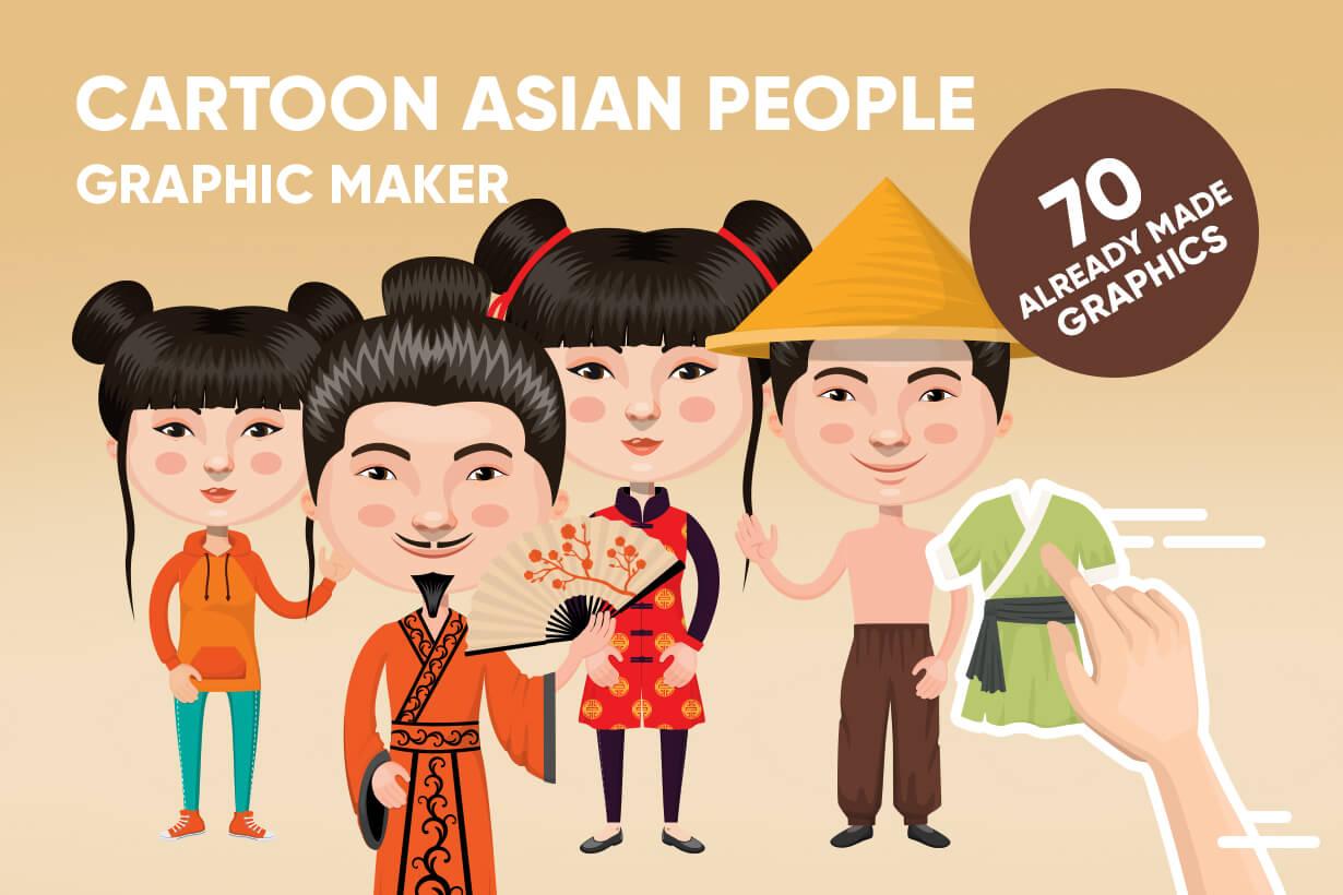 Asian People Vector Cartoon Graphics Maker