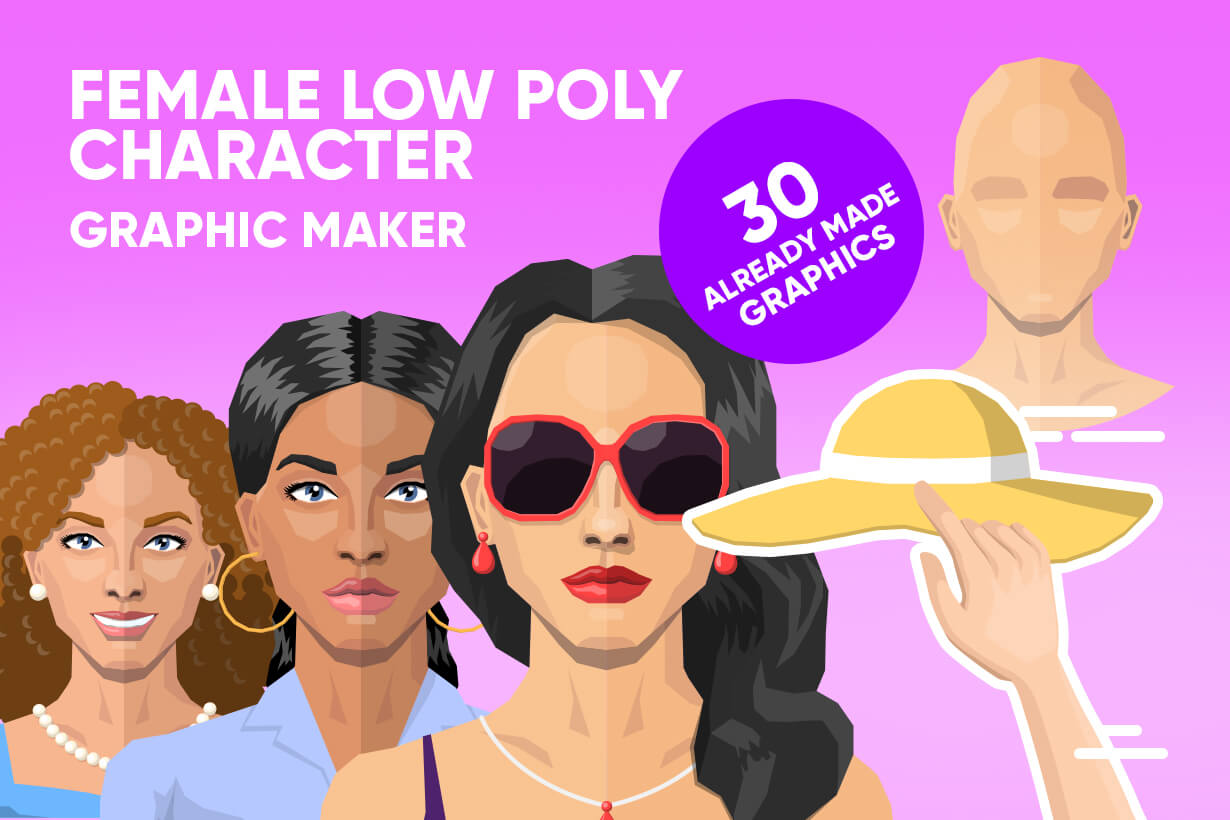 Female Low Poly Character Creator