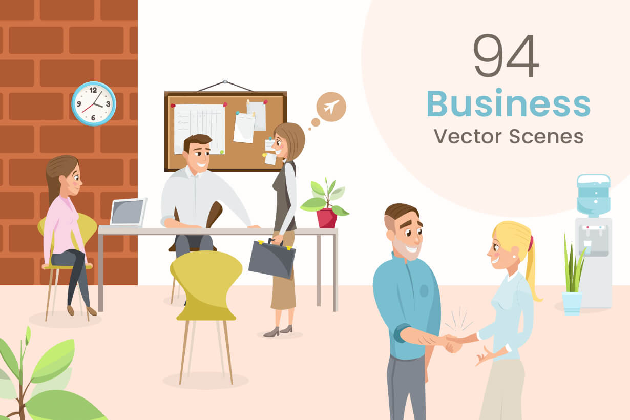 Business Vector Scenes