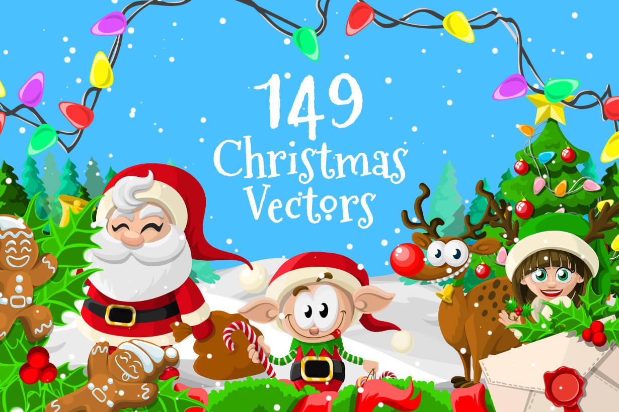 Christmas Vectors.Vector Christmas Collection Make A Wish Graphicmama