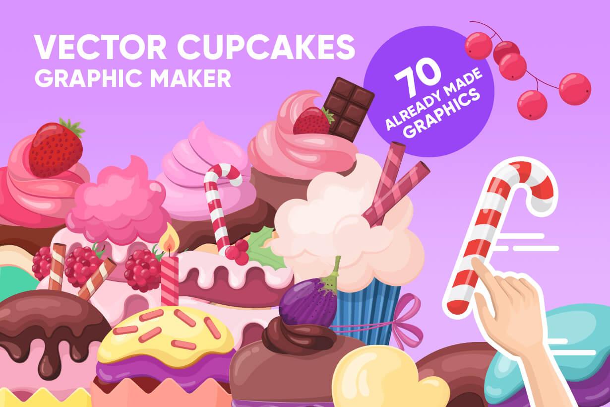 Cupcake Vector Graphics Maker
