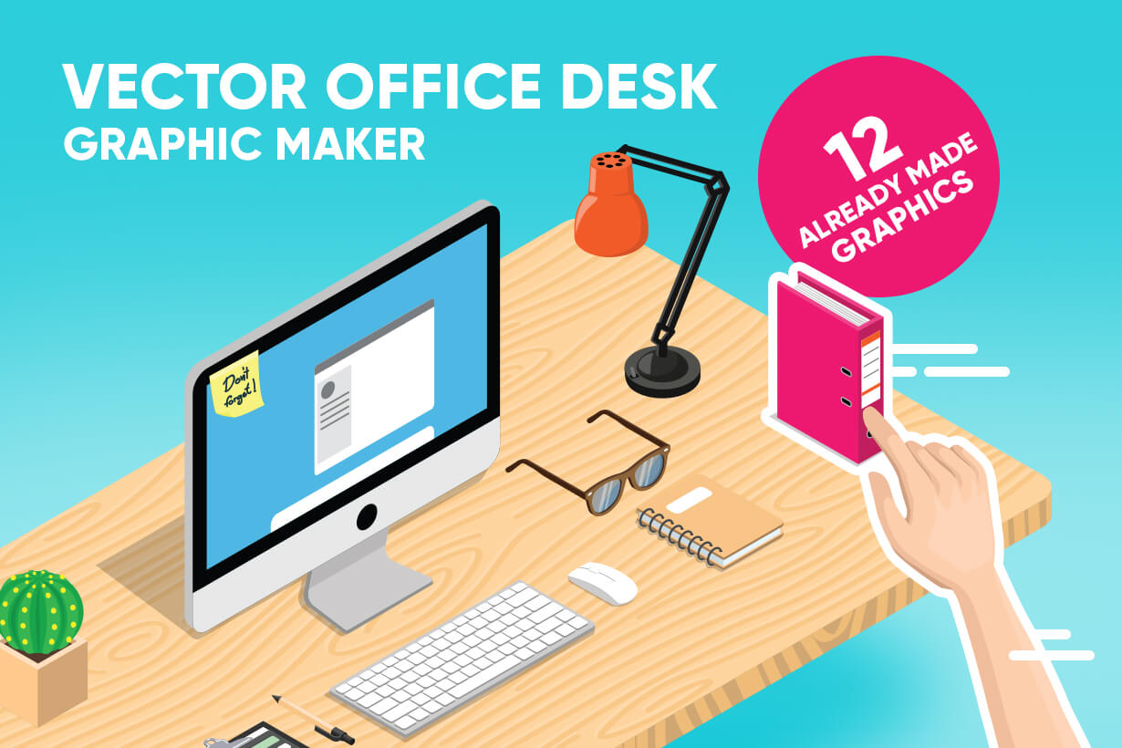 Vector Office Desk Graphic Maker