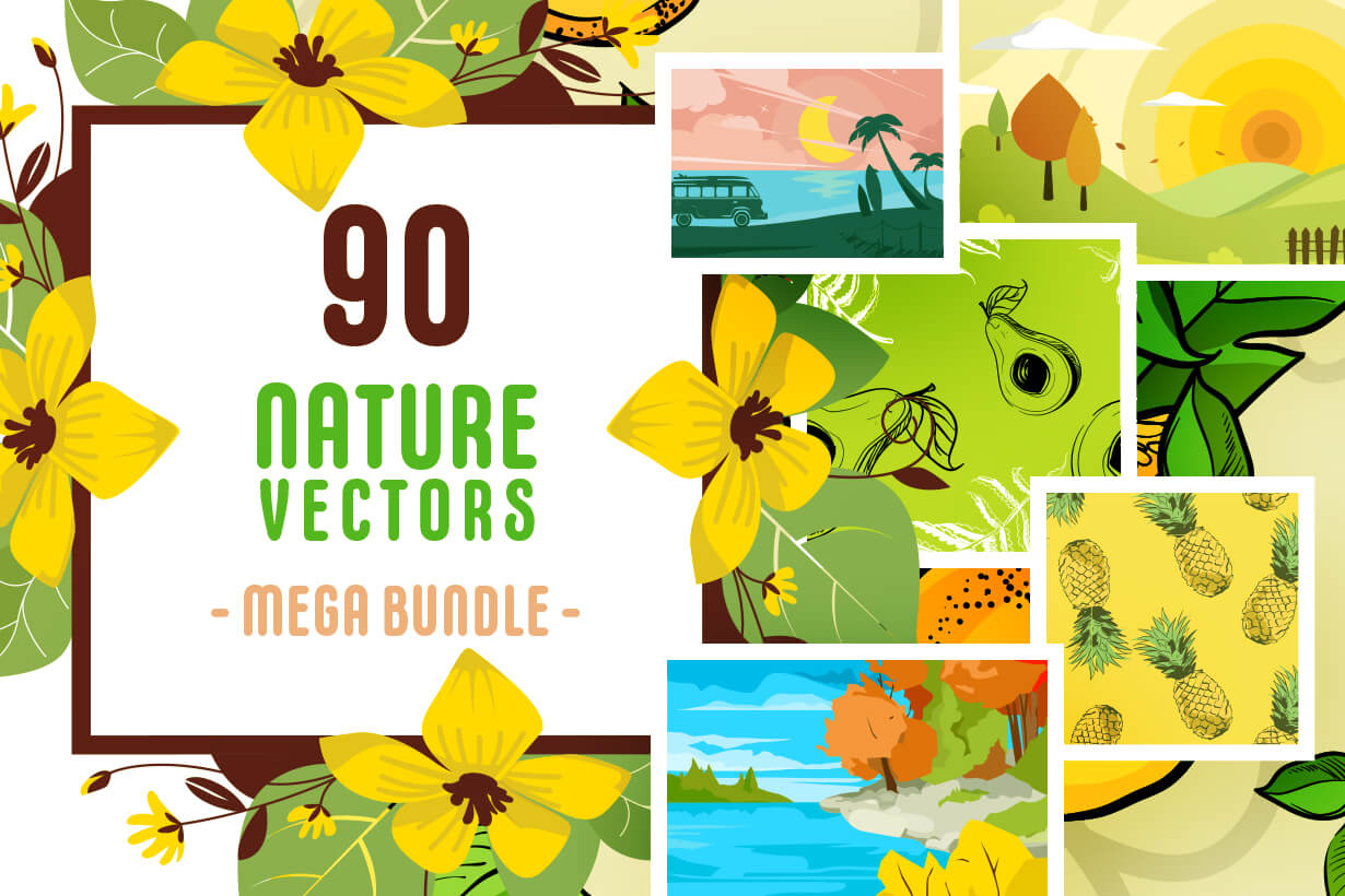 Nature Vectors - Mega Bundle