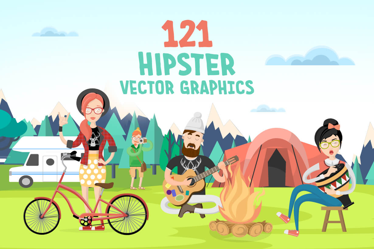 Hipster Vector Graphics