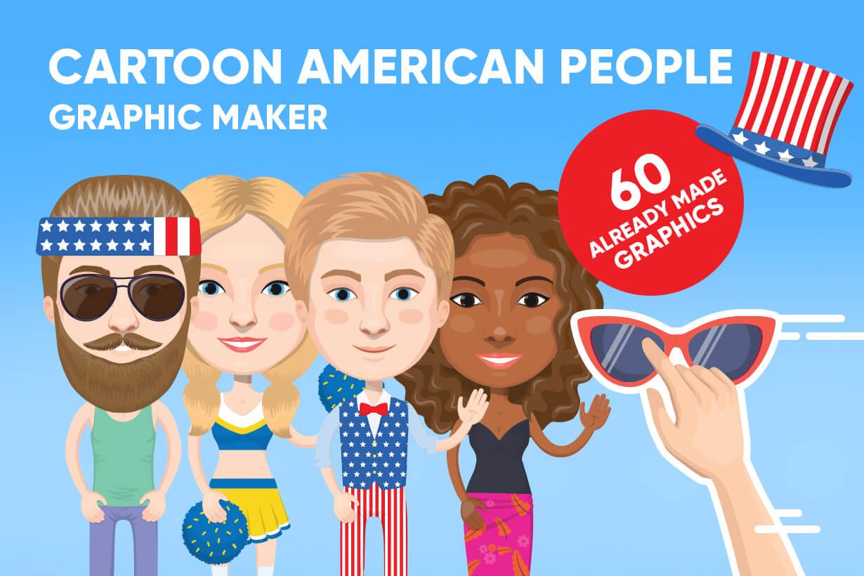 American People Vector Cartoon Graphics Maker