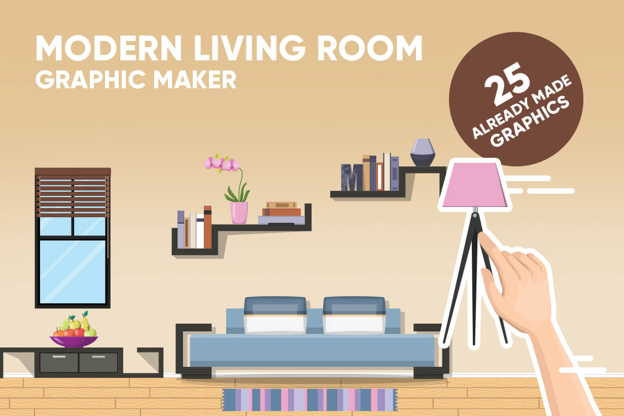 Living Room Vector Graphic Maker