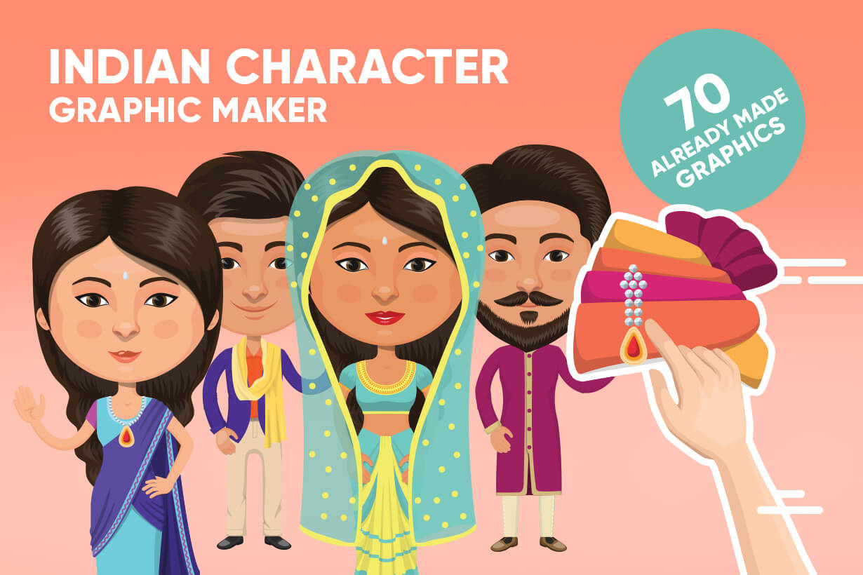 Indian People Vector Cartoon Graphics Maker