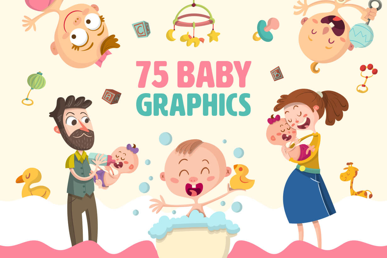 Baby Vectors - Mega Bundle