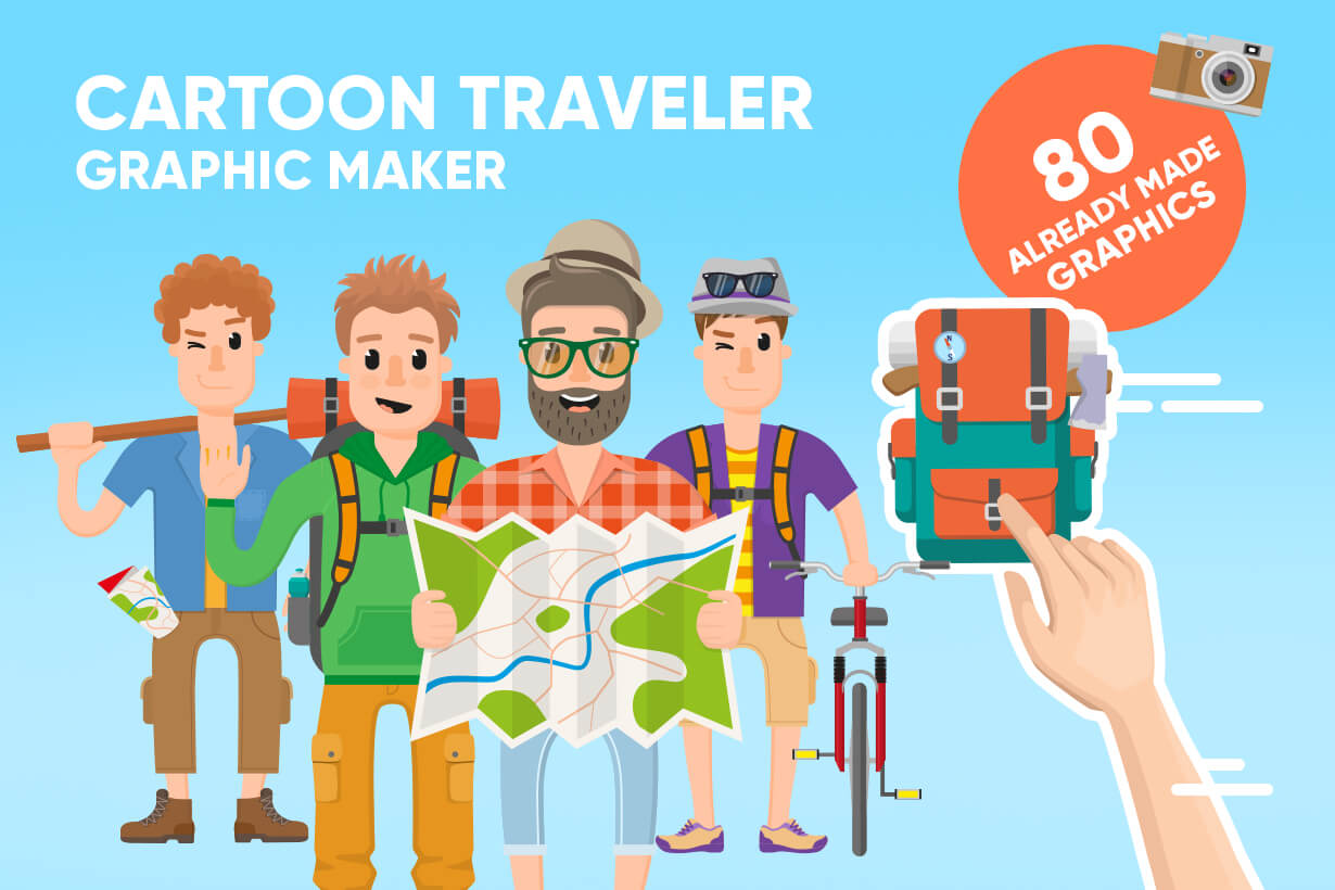 Travel Cartoon Vector Graphic Maker
