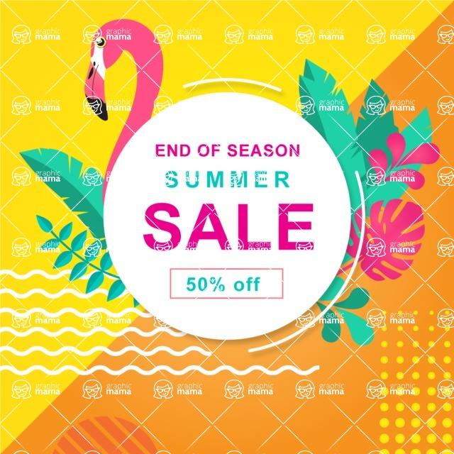 Summer Vector Graphics - Mega Bundle - Vector Summer Sale Poster