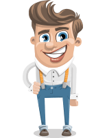 Funny Young Man Cartoon Vector Character AKA Spencer