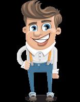 Funny Young Man Cartoon Vector Character AKA Spencer