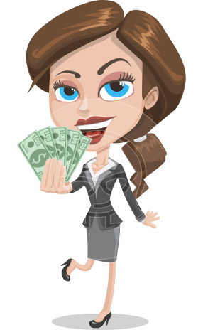Cute Businesswoman Cartoon Vector Character AKA Lorry the Office Fury