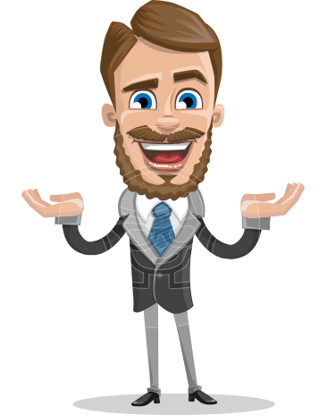 Elegant Businessman Cartoon Vector Character AKA Matt Charismatic