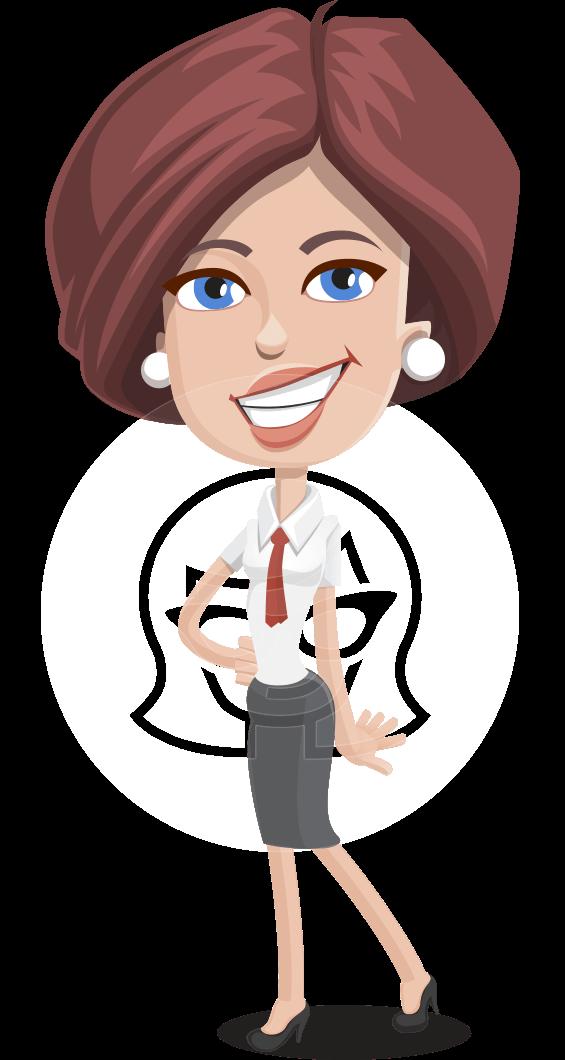 Businesswoman with Skirt Cartoon Vector Character AKA Lainey
