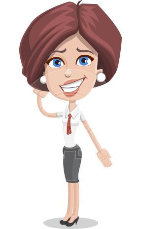 Businesswoman with Skirt Cartoon Vector Character AKA Lainey
