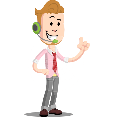 Office Guy Cartoon Vector Character AKA Owen