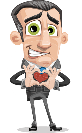 Funny Businessman Cartoon Vector Character AKA Frank