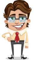 Entrepreneur Man Cartoon Vector Character AKA Clark Executive