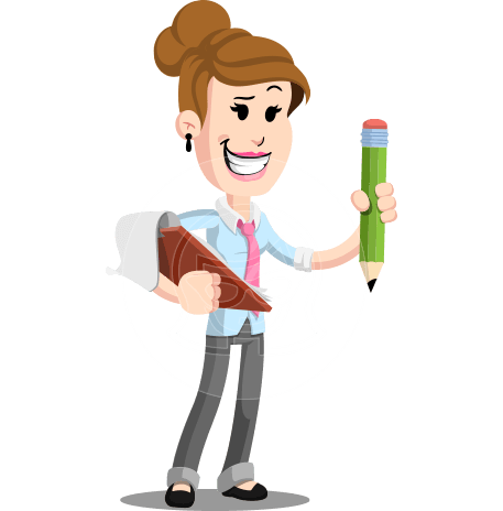 Flat Corporate Woman Cartoon Vector Character AKA Carrie