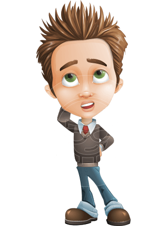 Cute Smart Boy Cartoon Vector Character