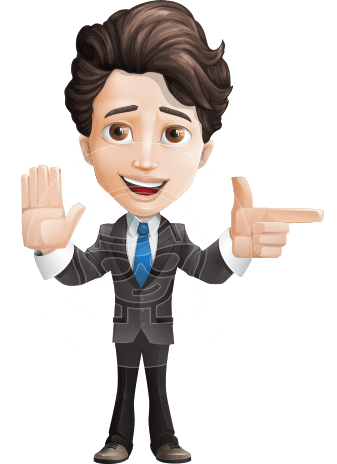 Little Boy Businessman Cartoon Vector Character AKA David