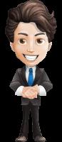 Little Boy Businessman Cartoon Vector Character AKA David
