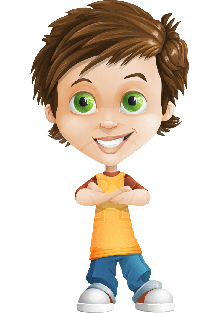 Cool Boy Cartoon Vector Character AKA Jamie Just-Chill