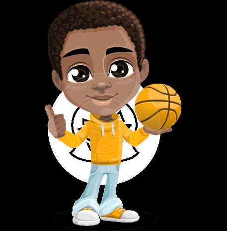 African American School Boy Cartoon Vector Character AKA Jorell