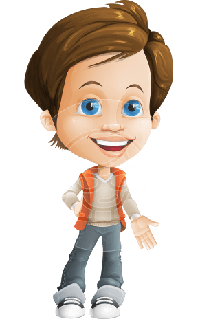 Playful Boy Cartoon Vector Character AKA Richie in Playground