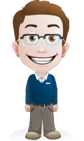Smart Little Kid with Glasses Cartoon Vector Character AKA Marcus
