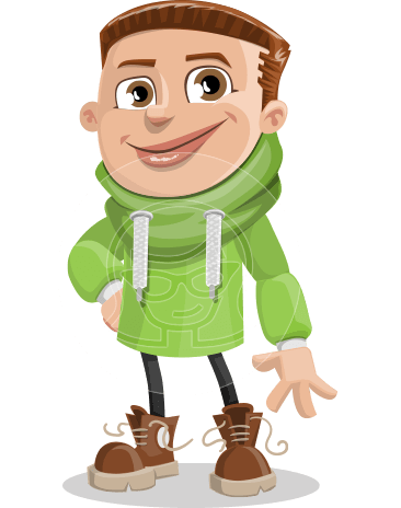 Boy with Hoodie Cartoon Vector Character AKA Hoody Cody