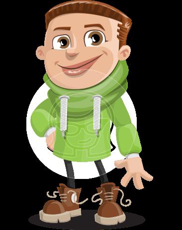 Boy with Hoodie Cartoon Vector Character AKA Hoody Cody