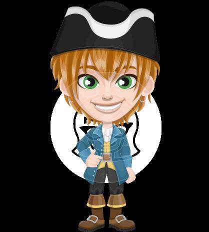 Pirate Boy Cartoon Vector Character AKA Willy