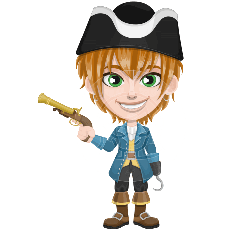 Pirate Boy Cartoon Vector Character AKA Willy