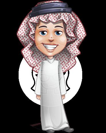 Cute Muslim Kid Cartoon Vector Character AKA Ayman