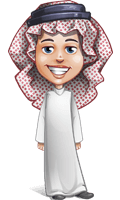Cute Muslim Kid Cartoon Vector Character AKA Ayman