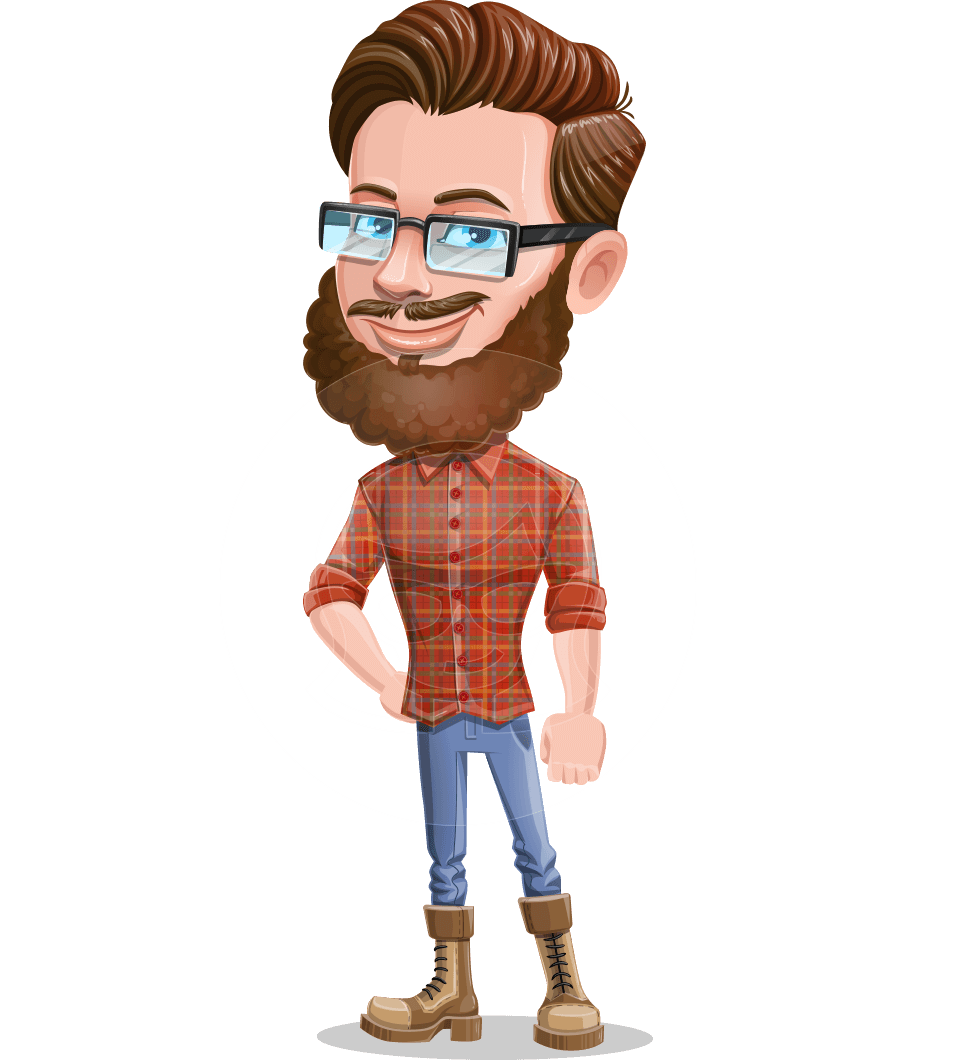 Cartoon Man dressed as Lumberjack Vector Character Illustrations